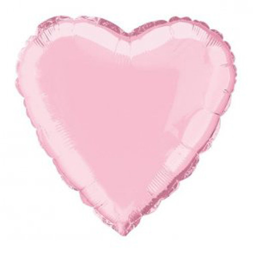 Pale Pink Heart Shaped Foil Balloon (18 Inch)