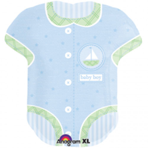 Baby Vest Boy Supershape Foil Balloon