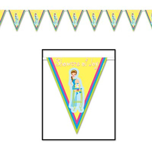 Baby Showers Of Joy Flag Banner (10 Inch)