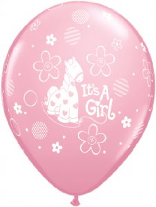It's A Girl Soft Pony Latex Balloon (5)