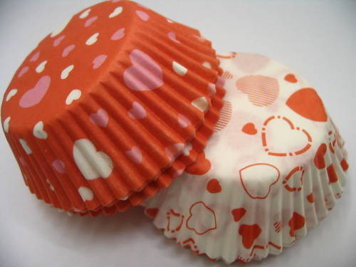 Sweetheart Cupcake Cases (72)