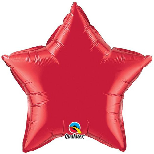 Red Star Foil Balloon (19in)