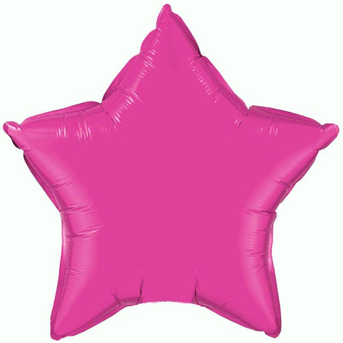 Hot Pink Star Foil Balloon 20 Inch