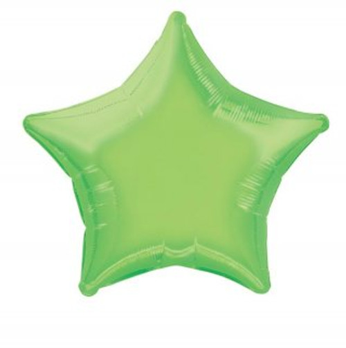 Lime Green Star Foil Balloon (20 inch)