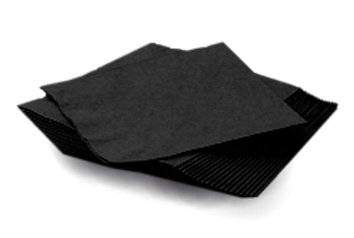 Black Plain Napkins (20)