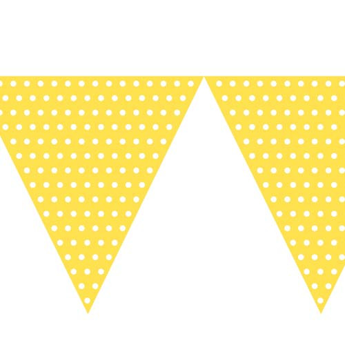 Polka Dot Yellow Bunting (9ft Long)