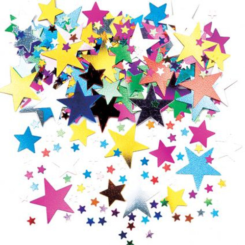 Multicoloured Star Confetti
