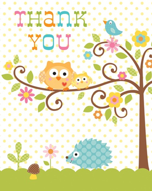 Woodland Happi Tree Thank You Cards (8)