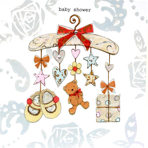 Baby Shower Hanger with Baby Gifts Guest Book