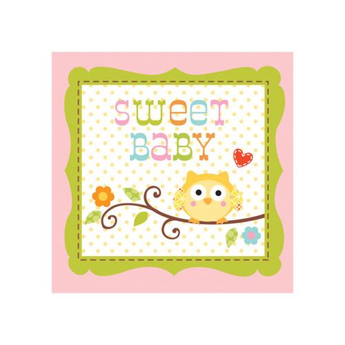 Woodland Happi Tree Pink Beverage Napkins