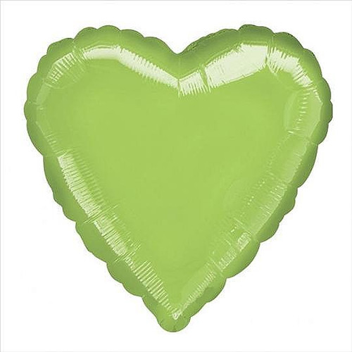 Lime Green Heart Foil Balloon (18 inch)
