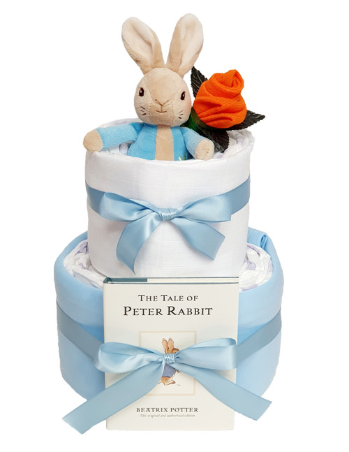 2 Tier Tales Of Peter Rabbit Nappy Cake