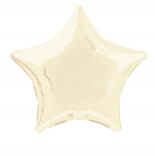 Ivory Star Foil Balloon (18 in)