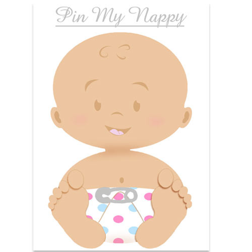 Pin My Nappy Game- White Baby (15)