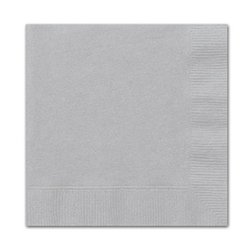 Silver Lunch Napkins (20)