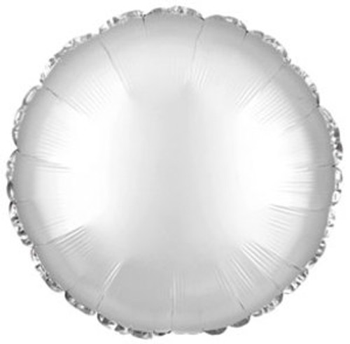 Silver Round Foil Balloon (18in)