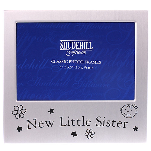 Sister Photo Frame With The Words New Little Sister