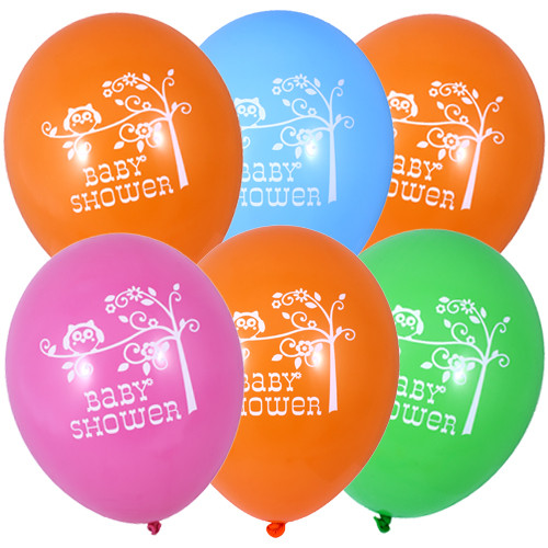 Woodland Happi Tree Latex Baby Shower Balloons (6)