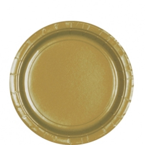 Gold Paper Plates In Packs Of 8