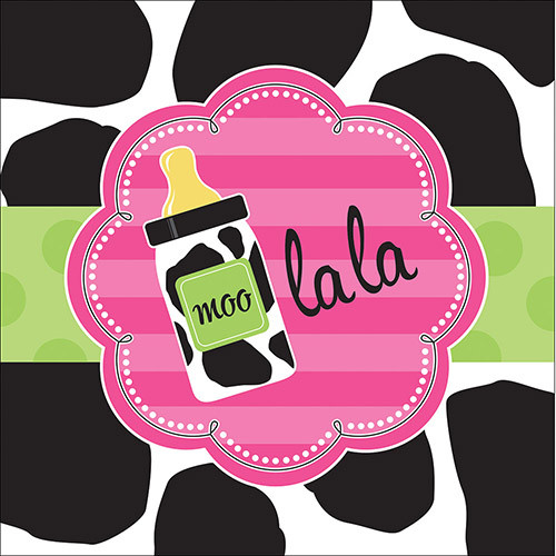 Baby Girl Cow Print Lunch Napkins (16)