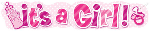It's A Girl Giant Banner (4.5ft)