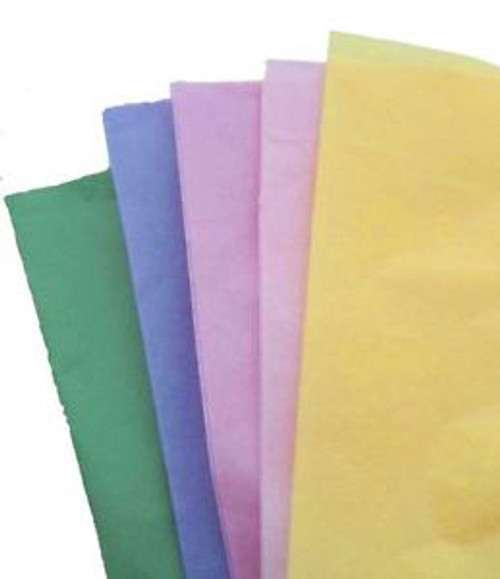 Assorted Pastel-Coloured Tissue Paper