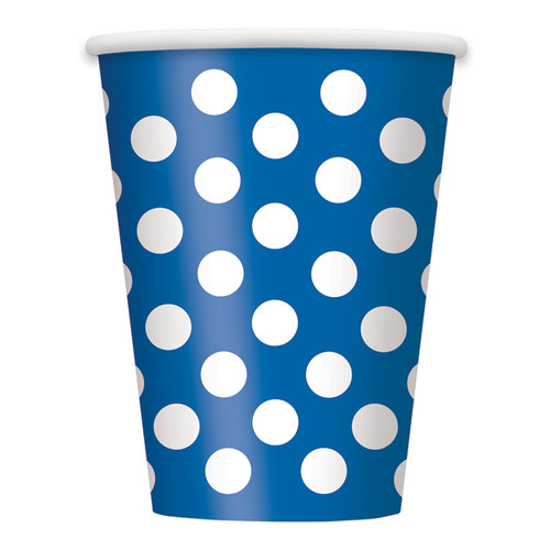 Navy Blue Polka Dot Cups (6)
