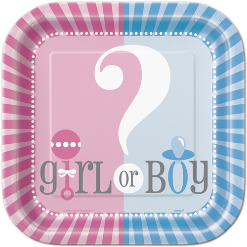 Gender Reveal Party Plates (8)