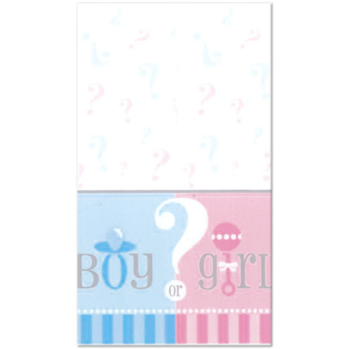 Gender Reveal Plastic Tablecover (54inx84in)