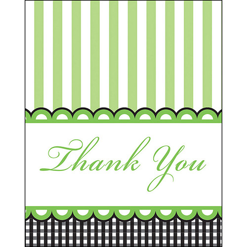 Candy Stripe Footprint Neutral Thank You Cards (8)