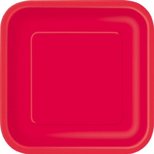 Red Square party Plates (14)