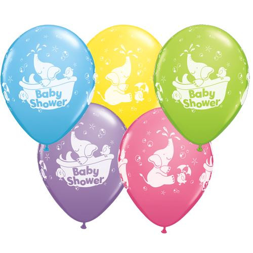 Baby Shower Assorted Elephant Latex balloons (5)