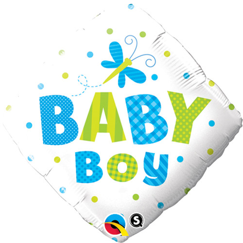 Baby Boy Dragonfly Foil Balloon (18in)