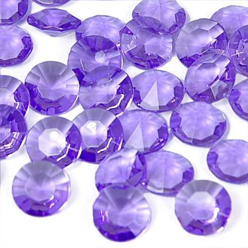 Diamantes Purple Table Sprinklers (approx 70 pieces)