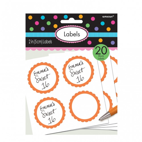 Candy Buffet Scalloped Labels Orange (20)