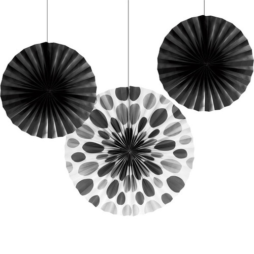 Tissue Fan Assortment Black (3)