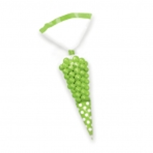 Candy Buffet cone Polka Dots Bags Green (10)