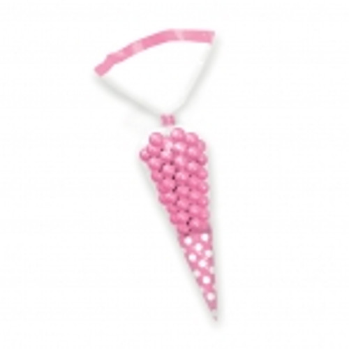 Candy Buffet cone Polka Dots Bags Pale Pink (10)