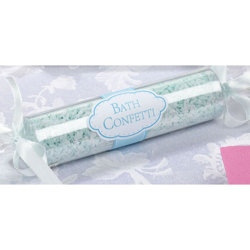 Bath Confetti Aqua and White (1)