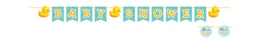 Rubber Duck Baby Shower Ribbon Banner