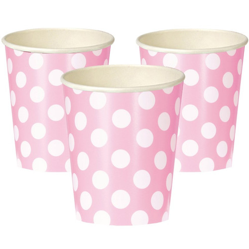 Powder Pink Big Dots Cups (6)