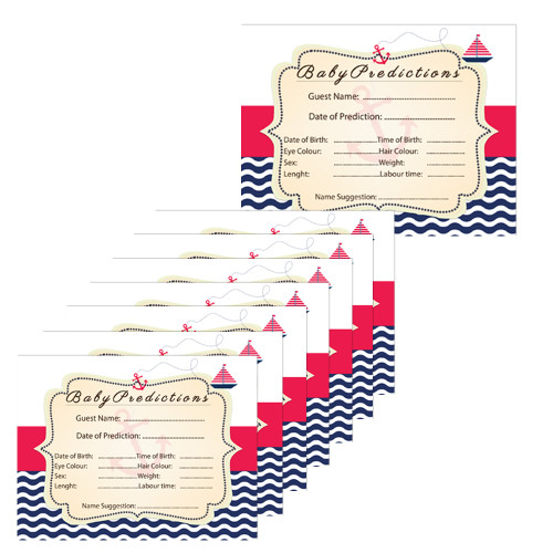 Nautical Baby Shower Prediction Cards (8)