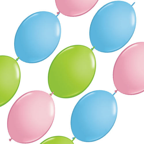 Pastel Balloon Banner 12 inches (10)