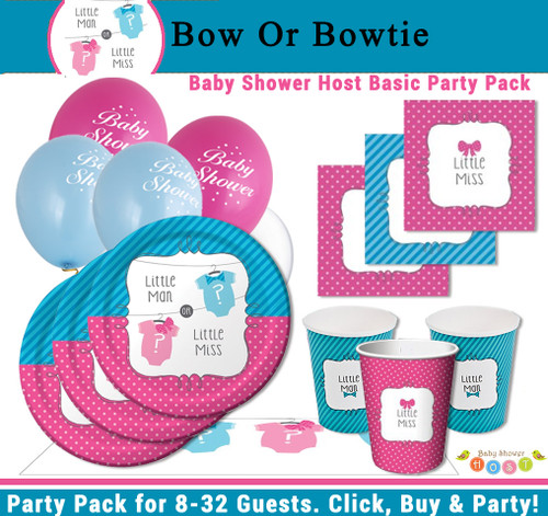 Bow or Bowtie Basic Party Pack (8 Guests)