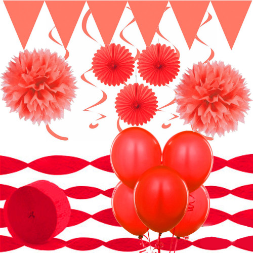 Room Decorating Pack Red