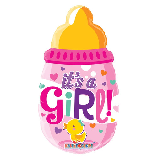 It's a Girl Bottle Air Filled Foil Balloon (14in)