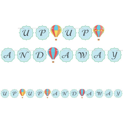 Hot Air Balloon Party Ribbon Banner (6ft)