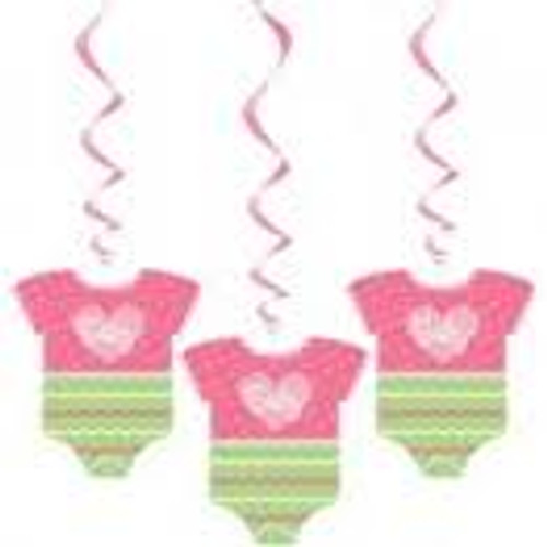 Pink Dots Baby Clothes Hanging Decorations (3)