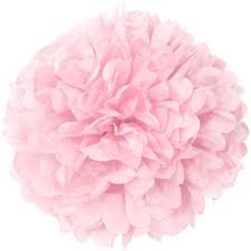 Paper Puff Ball Decoration In Pale Pink (1)