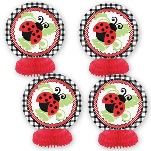 Ladybug Honeycomb Decorations (4)